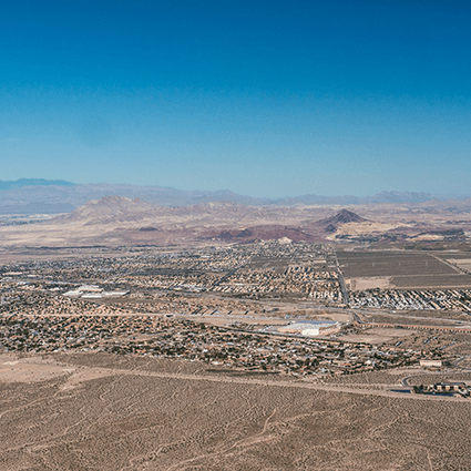 NSC, Nevada State College, Henderson, Nevada, aerial view, downtown Henderson, mountains, las vegas landscape, las vegas