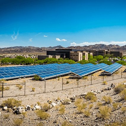 NSC, Nevada State College, Sustainability, solar panels, energy resource, desert, henderson, campus