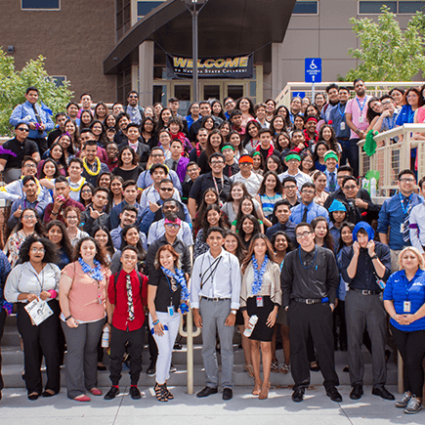 Outside, Rogers Student Center, Nevada State College, Community, Latino Youth Leadership Conference, LYLC, High School Students