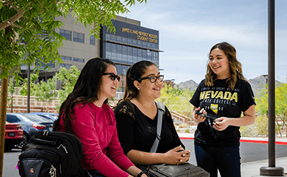 Nevada State College, Nursing Science and Education Building, Outside, Outdoors, Students, Student Life, Socializing, Campus Life