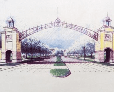 Nevada State College school gate drawing