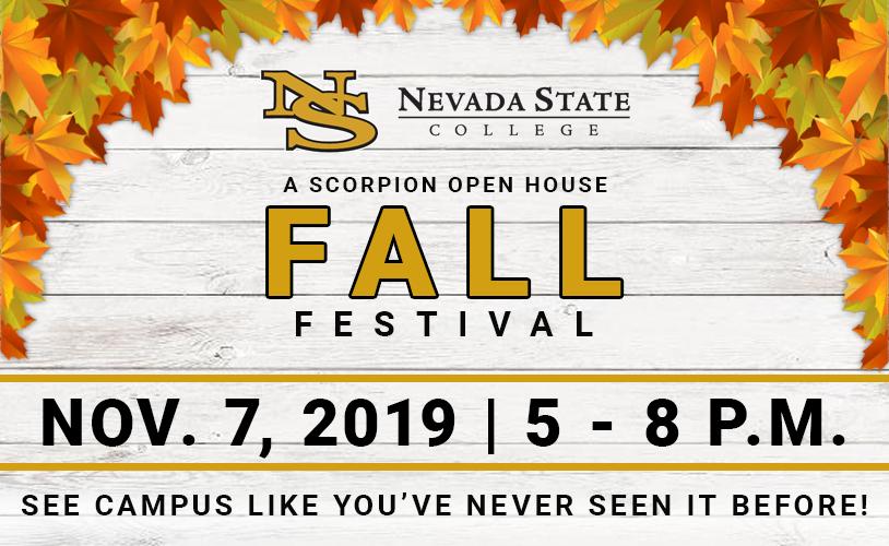 Scorpion Open House Fall Festival Flyer