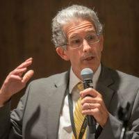 Dean Potthoff addressing students
